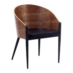 AVOTOM CHAIR - Vinyl Seat / Steel Frame / Lacquered Wood Back