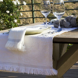 Pom Pom at Home Jules Table Runner - Pom Pom at Home is made from the highest quality, materials available. Their incredible attention to detail creates a luxurious, scrumptious and comfortable look that will invite you in every time!