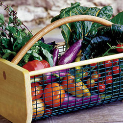 Burpee's Garden Hod - I definitely use my fresh veggies in my daily cooking, so I need a handy basket or garden hod to gather my harvest. I especially love this wooden hod because you can see all the fruits of your labor inside.