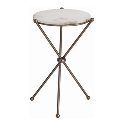 "Arteriors - Arteriors Home - Chloe End Table - 9962 - Arteriors Home - Chloe End Table - 9962 Features: Chloe Collection End Table Antique brass FinishMarble Table top materialSnow Table top color Some Assembly Required. Dimensions: 20"" D X 13"" H"