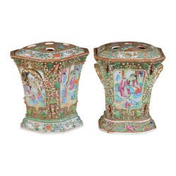 Pair of 19th Century Chinese Bough Pots