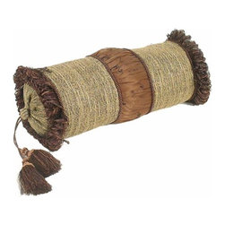 India House Brass, Inc. - Chocolate Rib Brush Bolster Pillow - Whether you are looking for plain or fancy, modern or traditional, our decorative pillows are just the right combination of modern function and vintage styling.  -Spot Clean Only India House Brass, Inc. - 84202