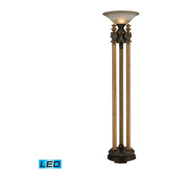 Dimond Lighting - Dimond Lighting Athena Torchiere in Athena Bronze - LED Offering Up To 800 Lumen - Torchiere in Athena Bronze - LED Offering Up To 800 Lumens belongs to Athena Collection by Dimond Lighting Lamp (1)