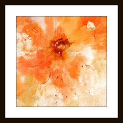 "Mantle Art Company - Jill Martin ""Orange"" Modern Wall Art - Beautiful modern art custom framed by designers to bring out the best in this piece of art. Made in the USA"