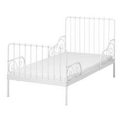 Tina Christensen/IKEA of Sweden - MINNEN Ext bed frame with slatted bed base - Ext bed frame with slatted bed base, white