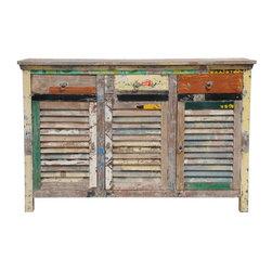 Classic Home Furniture - Vintage Multi-colored Shutter Cabinet - 59912244 - Classic Home Furniture - Vintage Multi-colored Shutter Cabinet - 59912244