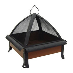 LANDMANN LIMITED - Todor 28IN Firepit - Large 20' fireplace with 360 degree viewing. Sturdy steel construction design for easy assembly. Includes Built-In wood gate and poker. Large hinged door for easy access. Size In: 28This item cannot be shipped to APO/FPO addresses. Please accept our apologies.