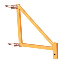 New Buffalo Corp. - Pro-Series 4 Piece Set, 18 Inch Scaffolding Outriggers - The Pro-Series 4 Piece Set 18 in. Scaffolding Outriggers attach to the Pro-Series 6 Foot Multi Use Scaffolding Unit (GSSI) to keep to keep the unit stable when double stacked. Extends total width of scaffolding by 36 in. Ideal for home improvement projects like painting, patching drywall or cleaning windows. Meets all OSHA and ANSI scaffolding regulations.