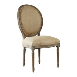 Medallion Side Chair - Hemp/Limed Grey