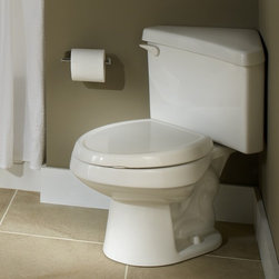 American Standard Titan Pro Right Height Round Triangle Toilet - •Combination bowl and tank, less seat