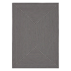 Loloi Rugs - Loloi Rugs In / Out Black Outdoor Hand Braided Rug X-0D3900LB10-OIUONI - Contrasting shades of black and off-white work together beautifully, creating a bold geometric pattern to this Loloi Rugs outdoor rug. This rug features hand braided construction, with an easily maintained quarter inch pile. It also features polypropylene fibers, which are durable and ideal for outdoor spaces.