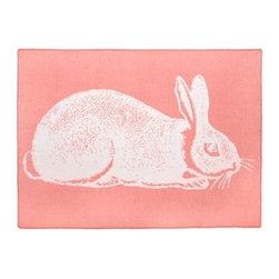 Thomas Paul Bunny Alpaca Blanket, Rose - What girl wouldn't love this soft bunny blanket across the foot of her bed? It's quirky, graphic and cute.