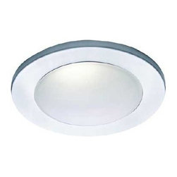 """WAC Lighting - WAC Lighting HR-D418-WT White 4 Inch Trims Shower Lighting 4 Inch Trim - 4"""" Drop Dish Dome - Shower Recessed Lighting Trim Wet Locations Listed Low voltage trim Requires Housing: HR8401E, HR-8401H, HR-8402E, HR-8402H, or HR-8403H 1 50w Max MR16 bulb required"""