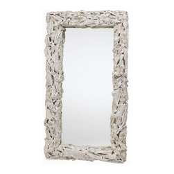 "Arteriors - Arteriors Home - Bodega Driftwood Mirror - 5407 - Arteriors Home - Bodega Driftwood Mirror - 5407 Features: Bodega Collection MirrorDistressed White finishDriftwood and Mirror MaterialD ring hangers wite woreCan be hung vertically or horizontally Some Assembly Required. Dimensions: 30"" W X 5"" D X 54"" H"