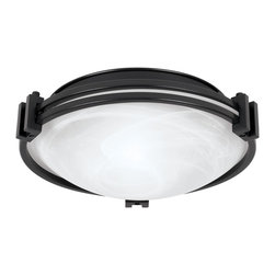 """Possini Euro Design - Possini Euro Design 12 3/4"""" Wide Ceiling Light Fixture - A strong Art Deco-influenced ceiling light fixture. Features graceful bands of oil-rubbed bronze encircling a marbleized glass bowl. A great lighting look for the kitchen hallway bathroom and more. From the Possini Euro Design Lighting Collection. Takes two 100 watt bulbs (not included). Measures 12 3/4"""" wide 4 1/2"""" high.  Oil rubbed bronze finish.   Marbleized glass.   Takes two 100 watt bulbs (not included).  12 3/4"""" wide.   4 1/2"""" high."""
