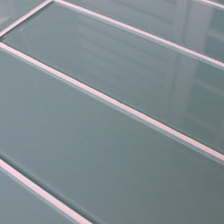 "3"" x 6"" Sample - Seaside 4"" x 12"" Glass Subway Tiles"