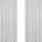Sweet Jojo Designs - Zigzag Yellow and Gray Chevron Window Panels by Sweet Jojo Designs, Set of 2 - The Zig Zag Yellow and Gray Chevron Window Panel - Set of 2 by Sweet Jojo Designs, along with the  bedding accessories.