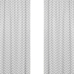 Sweet Jojo Designs - Zig Zag Yellow and Gray Chevron Window Panel - Set of 2 by Sweet Jojo Designs - The Zig Zag Yellow and Gray Chevron Window Panel - Set of 2 by Sweet Jojo Designs, along with the  bedding accessories.