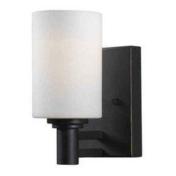 Kenroy Home - Kenroy Home 91931 1 Light Up Lighting Wall Sconce from the Slender Collection - 1 Light Up Lighting Wall Sconce from the Slender CollectionGraceful and linear, Slender's centered structure and parallel motif make a substantial design statement.Features: