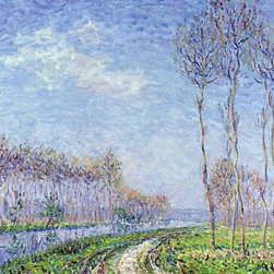 "Gustave Loiseau Trees by the River - 16"" x 20"" Premium Archival Print - 16"" x 20"" Gustave Loiseau Trees by the River premium archival print reproduced to meet museum quality standards. Our museum quality archival prints are produced using high-precision print technology for a more accurate reproduction printed on high quality, heavyweight matte presentation paper with fade-resistant, archival inks. Our progressive business model allows us to offer works of art to you at the best wholesale pricing, significantly less than art gallery prices, affordable to all. This line of artwork is produced with extra white border space (if you choose to have it framed, for your framer to work with to frame properly or utilize a larger mat and/or frame).  We present a comprehensive collection of exceptional art reproductions byGustave Loiseau."