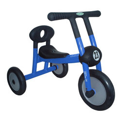 Foundations Worldwide - Italtrike Pilot Series Walker Riding Push Toy Multicolor - 100-01 - Shop for Tricycles and Riding Toys from Hayneedle.com! Share your love for riding from the start with the Italtrike Pilot Series Straight Handle Blue Walker Tricycle - No Pedals. Part of ItalTrike's Pilot 100 line this commercial-grade trike is dedicated to beginning riders aged one to two years old. It allows kids who aren't yet ready for pedaling to move simply by using their feet on the ground. This trike with distinctive straight handlebars is designed to build confidence and offer plenty of fun at the same time. Crafted from high-quality solid steel the vibrant blue painted frame has been spaced and welded for durability. The hard plastic seat is both sturdy and comfortable. This trike can accommodate weights up to 44 pounds. Dimensions: 27L x 18W x 22H inches. About ItalTrikeLocated in northern Italy ItalTrike was founded in 1983 and has been producing toys for 25 years. With a passion for fun high-quality items that any child can enjoy ItalTrike keeps the parents' concerns in mind as well. These toys are all designed and manufactured with safety as a prime concern and meet European Saftey Standards. ItalTrike is internationally registered and meets ISO international standards for quality management.