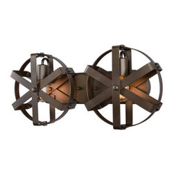 Varaluz - Varaluz 242W02 Reel 2 Light Recycled Steel Wall Sconce - Features: