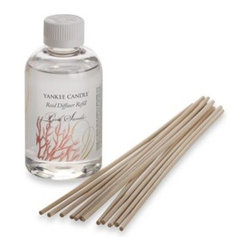 Yankee Candle - Yankee Candle Pink Sands Fragranced Oil Reed Diffuser Refill - Fill your home with the transformative fragrance of this reed diffuser refill. Yankee Candle reed diffuser refills continuously deliver a long lasting, true-to-life scent gently throughout its surroundings.