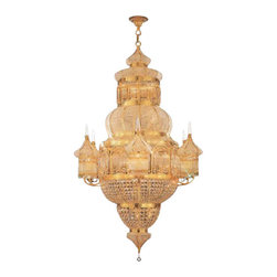 The Gallery - Moroccan Mosque Crystal Chandelier - 100% crystal chandelier, this Empire chandelier is characteristic of the grand chandeliers which decorated the finest Chateaux and Palaces across Europe and reflects a time of class and elegance which is sure to lend a special atmosphere anywhere it is placed!