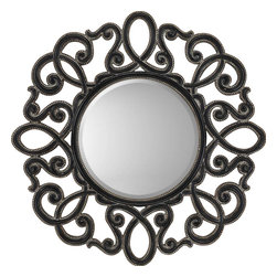 Paragon - Round Silver/Black - Mirrors Decorative - Each product is custom made upon order so there might be small variations from the picture displayed. No two pieces are exactly alike.