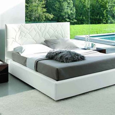Modern Beds Loto Leather Bed By SMA Mobili