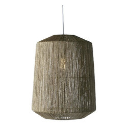 Selamat - Selamat Walker Hanging Pendant - Cocktail Pendant Collection: Finely twisted jute fabric is stretched over a sturdy wire frame to create a mid century inspired pendant lamp. Comes with UL approved socket and soft cord single bulb pendant kit.*Shown in Natural
