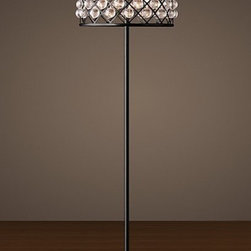 LOFT RH Crystal Water Drop Floor Lamp -