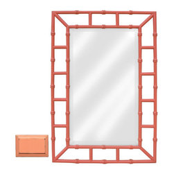 Tradewinds - Handmade Traditional Style Mirror, Coral - The Island Mirror can be wall hung, either vertically or horizontally. The handmade traditional style mirror will look great as a discrete decor piece in dressing room. There are may color options available for the mirror to suit different wall paints.
