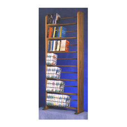 Wood Shed - 24.25 in. Dowel Bookcase (Unfinished) - Finish: UnfinishedSeven shelves. Capacity: Varies depending on use. Made from solid oak. Honey oak finish. 24.25 in. W x 10 in. D x 62 in. H