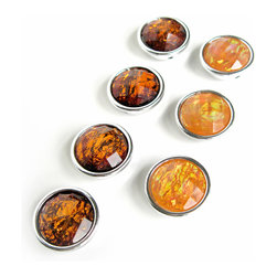 """Pretty Little Things - Autumn Amber Magnets Set of 7 - The rich colors of these """"Autumn Amber"""" Magnets will cozy up any space!"""