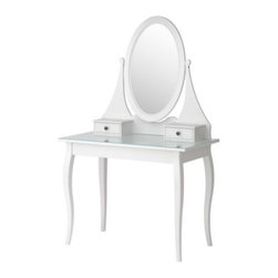 Carina Bengs - HEMNES Dressing table with mirror - Dressing table with mirror, white