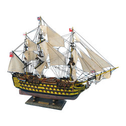 """Handcrafted Model Ships - HMS Victory Limited 30"""" - Wooden Model Tall Ship - Sold Fully Assembled Ready for Immediate Display -Not a Model Ship Kit"""
