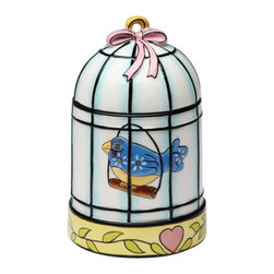 ATD - 4 7/8 Inch Blue Bird in Cage with Ribbon Top Design Candle Holder - This gorgeous 4 7/8 Inch Blue Bird in Cage with Ribbon Top Design Candle Holder has the finest details and highest quality you will find anywhere! 4 7/8 Inch Blue Bird in Cage with Ribbon Top Design Candle Holder is truly remarkable.