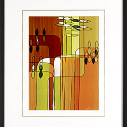 """Mantle Art Company - """"Uplift II"""" custom framed art - Beautiful modern art custom framed by designers to bring out the best in this piece of art. Made in the USA"""