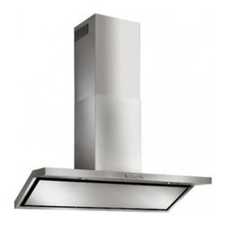 """Best - WC46E90SB 35.5"""" Circeo Chimney Range Hood with Halogen Lighting  3-Speed Plus Bo - The traditional chimney hood design from Italy has stood the test of time The Colonne builds on this legacy with new powerful design that can handle the needs of pro-style cooking"""