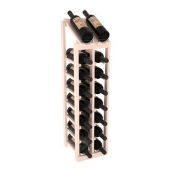 Wine Racks America - 2 Column 8 Row Display Top Kit in Pine, White Wash Stain + Satin Finish - Display your best vintage while efficiently storing 16 wine bottles. This slim design is a perfect fit for almost any space. Our wine cellar kits are constructed to industry-leading standards. Display top wine racks are perfect for commercial or residential environments.