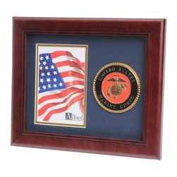 US Marine Corps Portrait Picture Frame - 10-Inch by 12-Inch Military Portrait Picture Frame