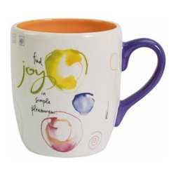 """WL - 4 Inch """"Joy"""" 13 oz Coffee/Tea Mug Collectible Kitchen-Ware Decoration - This gorgeous 4 Inch """"Joy"""" 13 oz Coffee/Tea Mug Collectible Kitchen-Ware Decoration has the finest details and highest quality you will find anywhere! 4 Inch """"Joy"""" 13 oz Coffee/Tea Mug Collectible Kitchen-Ware Decoration is truly remarkable."""