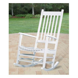 White Acacia Porch Rocker - I just purchased a couple of these rocking chairs for my porch and love them!