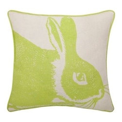 Thomas Paul Bunny Linen Pillow - Kiwi - Thomas Paul Bunny Linen Pillow - Kiwi