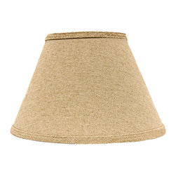 "Lamps Plus - Country - Cottage Neutral Heavy Basket Empire Lamp Shade 9x16x12 (Spider) - This handsome lamp shade features a heavy basket weave fabric in a neutral tone and a chrome spider fitter for a hint of sparkle. A delightful accent shade to refresh a floor or table lamp. The correct size harp is included free with this purchase. Crafted in the Indiana workshops of A'Homestead Shoppe. Empire hardback shade. Neutral tone. Made in USA. Heavy basket weave cotton fabric. Chrome spider fitter. Unlined. Correct size harp included. 9"" across the top. 16"" across the bottom. 12"" on the slant.  Empire hardback shade.  Neutral tone.  Made in USA.  Heavy basket weave cotton fabric.  Chrome spider fitter.  Unlined.  Correct size harp included.  9"" across the top.  16"" across the bottom.  12"" on the slant."