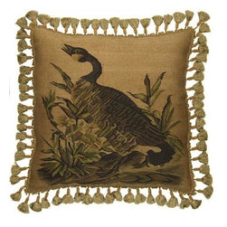 EuroLux Home - New Aubusson Throw Pillow Country Goose - Product Details