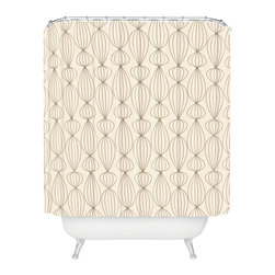Botanical Shower Curtain - Keep water contained behind this charming graphic shower curtain. One style choice like this can revamp an entire bathroom.