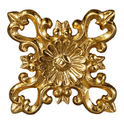 uDecor - GF-2134 Ornamental - For anyone looking for an elegant way to adorn your home or business, our gold foil products are the perfect way to achieve your desired look. Made out of polyurethane and then coated with 18k gold foil, these products are sure to leave your family and clients impressed.  Made from dense polyurethane