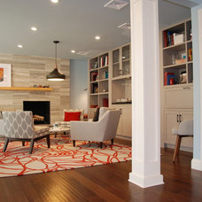 Transitional Family Room by Walden Interiors